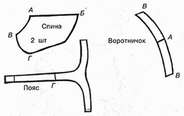 Выкройка попоны для собак с воротничком и поясом
