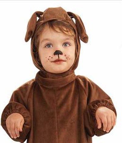 Грим для костюма собаки для ребенка из карандаша